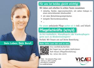 Pflegefachkräfte (w/m/d) oder Medizinische Fachangestellte (w/m/d)